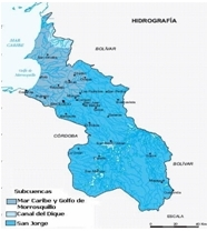 Mapa hidrico de Sucre